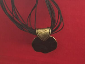Beautiful bronze and black necklace. Egyptian style.