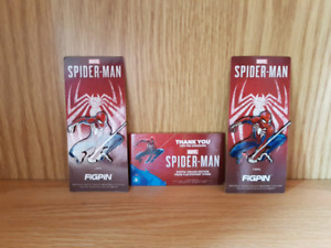 Exclusive Spiderman PS4 Game FigPins