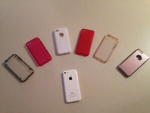 iPhone 5C locked to rogers with phone cases and screen protector