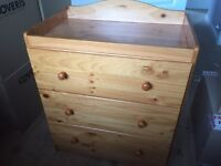 Mothercare Addington pine changing unit great condition