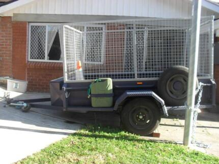 Trailer hire - 8ft x 5ft; with all round cage