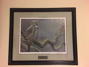 Robert Bateman - Great Horned Owl (Ducks Unlimited Collection)