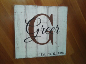 Weathered Wooden Signs