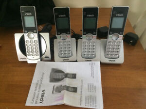 VTech 4 Handset Cordless Phone System (gently used)