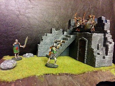 Corner Ruins Terrain Warhammer Frostgrave 28mm 40K Wargame 25mm LOTR RPG Hordes