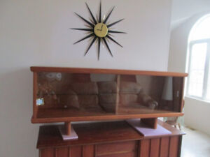 Mid Century Teak hutch display cabinet