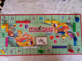 Children's board game. Junior monopoly