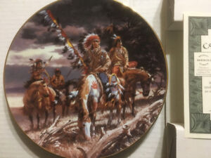 At Storm's Passage - Bradford Exchange Collector Plate
