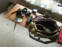 Canon camera and case lens etc