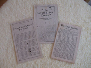 """COLLECTION of THREE """"INTENSELY INTERESTING STORY"""" LEAFLETS"""