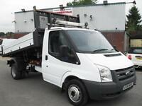 61 REG FORD TRANSIT TIPPER, 140BHP, 6 SPEED, 70K MILES, FULL DEALER FACILITIES!!
