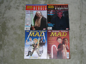 Star Wars Poster Magazines + 2 MAD Magazines