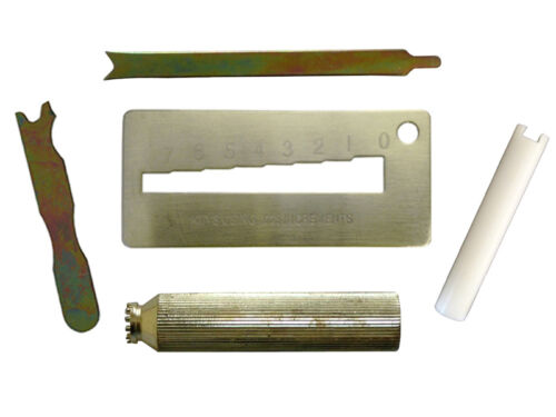 Kwikset Rekey Cylinder Removal,Key Gauge Decoder,Cap Remover,Clamp,Follower Tool