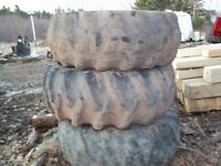 SKIDDER AND PORTER WHEELS AND TIRES