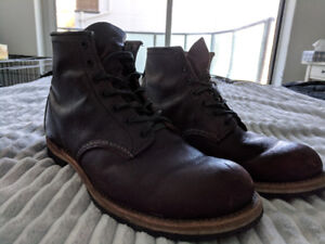 Red Wing Beckman boots, size US 10