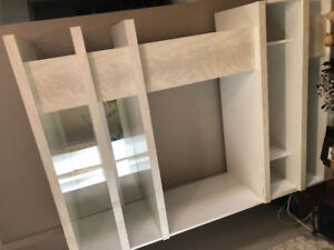 $400 white marble wall unit