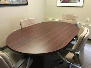 """Office Furniture - Conference table ( 48"""" x 72""""-mahogany color)"""