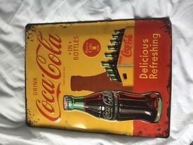 Vintage looking Coca Cola sign