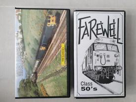 Railway BR class 50 VHS videos x 2