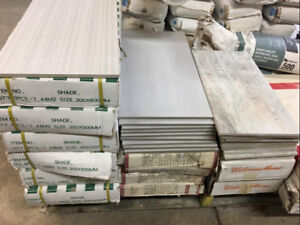Clearance tiles .50$ to .75 $ cents a sq ft !