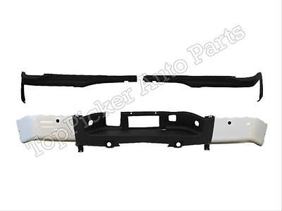 For 2007-2013 SILVERADO 2500HD REAR BUMPER END PAINTED WHITE TOP PAD W/HOLE 5PC
