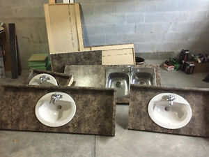 Bathroom & Kitchen Countertops with Sinks & Faucets USED AS IS