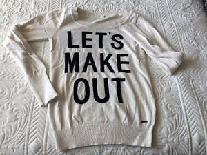 "Sweater- ""let's make out"""