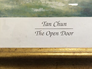 "Collectible Antique ""The Open Door"" Framed Print By Tan Chun London Ontario image 3"