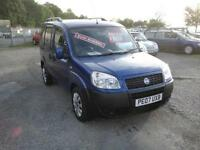 2007 Fiat Doblo 1.9 Multijet 105 Active. 2 owners with FSH.