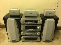 Technics separate Hi Fi stack with surround speakers