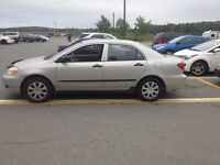 2003 Toyota corrola ce 4cly 5speed askin 2400.00 1 owner car