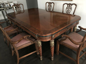 only til Mar 30 @ 5pm: perfect dining set including 8 chairs ++