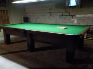 Burroughes & Watts 100 Year Old Snooker Table For Sale