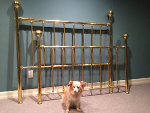 BRASS Headboard & Footboard – QUEEN BED - $295 (OBO)