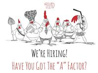 Absurd Bird Newcastle comming soon! General Manager, Assistant Managers and Supervisors wanted!
