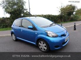 TOYOTA AYGO VVT-I BLUE F.S.H Low Miles Bluetooth Air Con, Blue, Manual, Petrol,