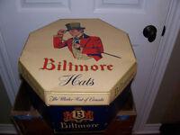Antique Biltmore Hat Box With Hat