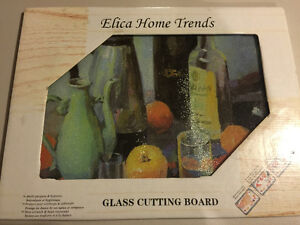 Glass Cutting Board Decorative Elica Home Trends Kitchener / Waterloo Kitchener Area image 1