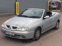 2002 Renault Megane convertible, brand new mot, drives great.
