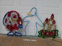 OUTDOOR CHRISTMAS FIGURES -- LARGE SIZE, SMALL PRICE