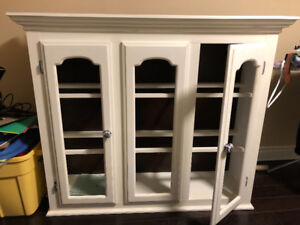 TOP part of hutch cabinet. Great for a diy project.