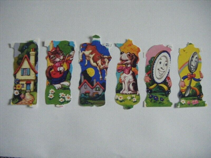 Vintage Embossed SCRAPS - Hey Diddle Diddle