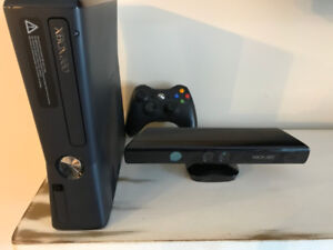 Xbox 360 S Console with Kinect and Wireless Controller
