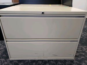 Lateral file cabinet 2 drawers