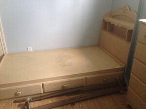 Girls bed and dresser