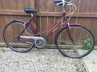 Vintage retro ladies town bicycle