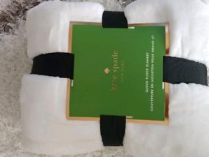 New Kate Spade queen sz blankets