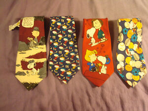 4 Novelty Ties - Charlie Brown and The Gang - one with Tag Peterborough Peterborough Area image 1