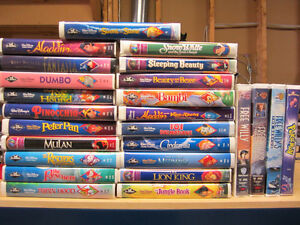 Disney Classic Childrens VHS movies
