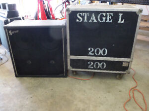 4-12 speaker Cab 30x30x14 inches with Clydesdale flight case